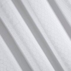 Zasłona Gotowa Biała Z Motywem Plastra Miodu 140X250 Przelotki - 140x250 - biały 2