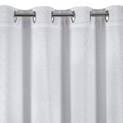 Zasłona Gotowa Biała Z Motywem Plastra Miodu 140X250 Przelotki - 140x250 - biały 5