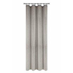 Zasłona w stylu eko 140x250 cm szelki - 140 X 250 cm - szary 5