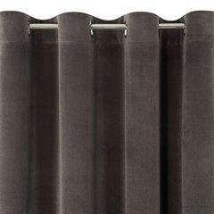 Zasłona brązowa 140x250 cm przelotki - 140 X 250 cm - brązowy 6