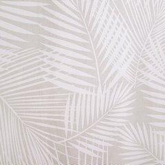 Zasłona beżowa w delikatne białe liście na przelotkach 140 x 250 cm  - 140x250 - beżowy 3