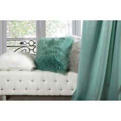 Poszewka dekoracyjna na poduszkę 45 x 45 kolor turkusowy - 45 X 45 cm - ciemnoniebieski 7
