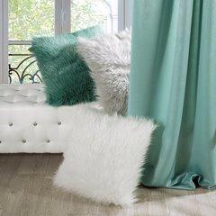 Poszewka dekoracyjna na poduszkę 45 x 45 kolor turkusowy - 45 X 45 cm - ciemnoniebieski 8
