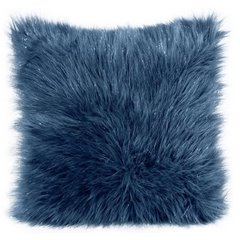 Poszewka dekoracyjna na poduszkę 45 x 45 kolor turkusowy - 45 X 45 cm - ciemnoniebieski 1