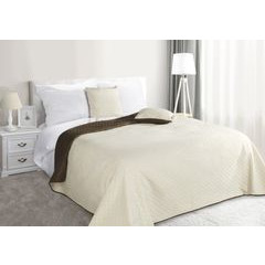 Narzuta na łóżko dwustronna marokańska koniczyna 220x240 cm kremowo-brązowa - 220x240 - kremowy / brązowy 5