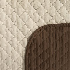 Narzuta na łóżko dwustronna marokańska koniczyna 220x240 cm kremowo-brązowa - 220 X 240 cm - kremowy/brązowy 4