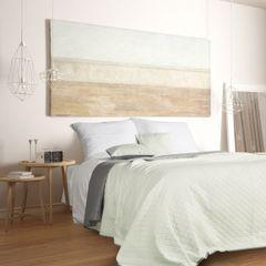 Narzuta na łóżko dwustronna marokańska koniczyna 170x210 cm miętowo-szara - 170 x 210 cm - miętowy/stalowy 2