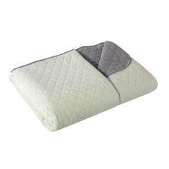 Narzuta na łóżko dwustronna marokańska koniczyna 170x210 cm miętowo-szara - 170 x 210 cm - miętowy/stalowy 3