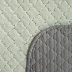 Narzuta na łóżko dwustronna marokańska koniczyna 170x210 cm miętowo-szara - 170 x 210 cm - miętowy/stalowy 4