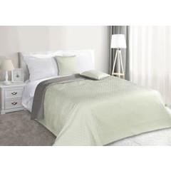 Narzuta na łóżko dwustronna marokańska koniczyna 220x240 cm miętowo-szara - 220 X 240 cm - miętowy/stalowy 1