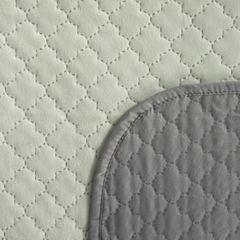 Narzuta na łóżko dwustronna marokańska koniczyna 220x240 cm miętowo-szara - 220 X 240 cm - miętowy/stalowy 6