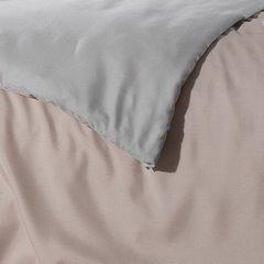 Komplet pościeli z MIKROFIBRY 160 x 200 cm, 2 szt. 70 x 80 cm, DWUSTRONNA, różowo srebrna - 160x200+70x80/2 - różowy / srebrny 1