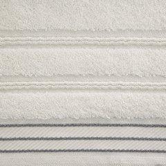 Ręcznik z bawełny z częścią ozdobną przetykaną błyszczącą nicią 70x140cm - 70 X 140 cm - kremowy 9
