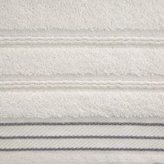 Ręcznik z bawełny z częścią ozdobną przetykaną błyszczącą nicią 50x90cm - 50 X 90 cm - kremowy 7