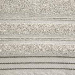 Ręcznik z bawełny z częścią ozdobną przetykaną błyszczącą nicią 50x90cm - 50 X 90 cm - beżowy 4