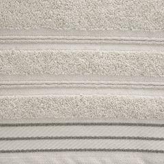 Ręcznik z bawełny z częścią ozdobną przetykaną błyszczącą nicią 70x140cm - 70 X 140 cm - beżowy 8
