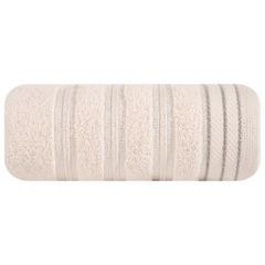 Ręcznik z bawełny z częścią ozdobną przetykaną błyszczącą nicią50x90cm - 50 X 90 cm - różowy 2
