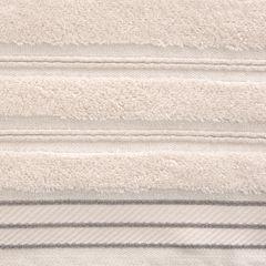 Ręcznik z bawełny z częścią ozdobną przetykaną błyszczącą nicią 70x140cm - 70 X 140 cm - różowy 8