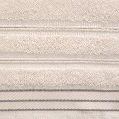 Ręcznik z bawełny z częścią ozdobną przetykaną błyszczącą nicią 70x140cm - 70 X 140 cm - różowy 9