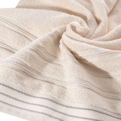 Ręcznik z bawełny z częścią ozdobną przetykaną błyszczącą nicią 70x140cm - 70 X 140 cm - różowy 5