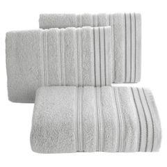 Ręcznik z bawełny z częścią ozdobną przetykaną błyszczącą nicią 50x90cm - 50 X 90 cm - srebrny 1