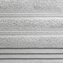 Ręcznik z bawełny z częścią ozdobną przetykaną błyszczącą nicią 50x90cm - 50 X 90 cm - srebrny 9