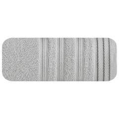 Ręcznik z bawełny z częścią ozdobną przetykaną błyszczącą nicią 70x140cm - 70 X 140 cm - srebrny 2