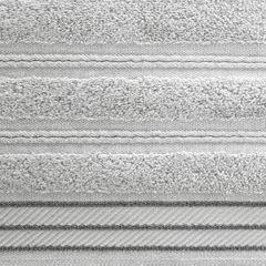 Ręcznik z bawełny z częścią ozdobną przetykaną błyszczącą nicią 70x140cm - 70 X 140 cm - srebrny 4