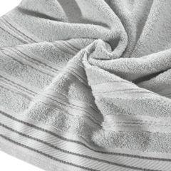 Ręcznik z bawełny z częścią ozdobną przetykaną błyszczącą nicią 70x140cm - 70x140 - szary 2