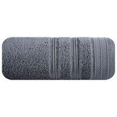 Ręcznik z bawełny z częścią ozdobną przetykaną błyszczącą nicią 70x140cm - 70 X 140 cm - stalowy 2