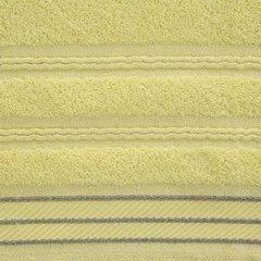 Ręcznik z bawełny z częścią ozdobną przetykaną błyszczącą nicią 50x90cm - 50 X 90 cm - żółty 9