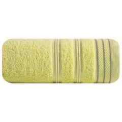 Ręcznik z bawełny z częścią ozdobną przetykaną błyszczącą nicią 50x90cm - 50 X 90 cm - żółty 2