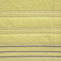 Ręcznik z bawełny z częścią ozdobną przetykaną błyszczącą nicią 70x140cm - 70x140 - żółty 3