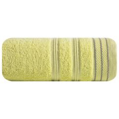 Ręcznik z bawełny z częścią ozdobną przetykaną błyszczącą nicią 70x140cm - 70 X 140 cm - żółty 2