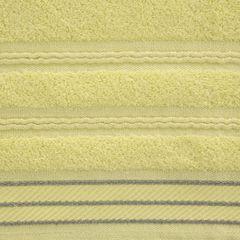 Ręcznik z bawełny z częścią ozdobną przetykaną błyszczącą nicią 70x140cm - 70 X 140 cm - żółty 4