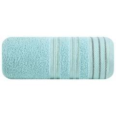 Ręcznik z bawełny z częścią ozdobną przetykaną błyszczącą nicią 50x90cm - 50 X 90 cm - miętowy 2
