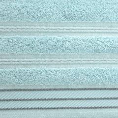 Ręcznik z bawełny z częścią ozdobną przetykaną błyszczącą nicią 50x90cm - 50 X 90 cm - miętowy 4