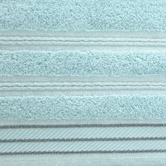 Ręcznik z bawełny z częścią ozdobną przetykaną błyszczącą nicią 70x140cm - 70 X 140 cm - miętowy 8