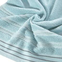 Ręcznik z bawełny z częścią ozdobną przetykaną błyszczącą nicią 70x140cm - 70 X 140 cm - miętowy 10