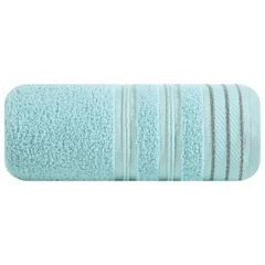 Ręcznik z bawełny z częścią ozdobną przetykaną błyszczącą nicią 70x140cm - 70 X 140 cm - miętowy 2