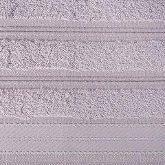 Ręcznik z bawełny z częścią ozdobną przetykaną błyszczącą nicią 70x140cm - 70 X 140 cm - liliowy 9