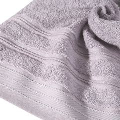 Ręcznik z bawełny z częścią ozdobną przetykaną błyszczącą nicią 70x140cm - 70 X 140 cm - liliowy 10