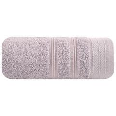 Ręcznik z bawełny z częścią ozdobną przetykaną błyszczącą nicią 70x140cm - 70 X 140 cm - liliowy 2