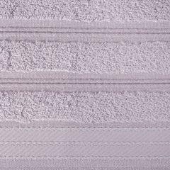 Ręcznik z bawełny z częścią ozdobną przetykaną błyszczącą nicią 70x140cm - 70 X 140 cm - liliowy 4