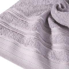 Ręcznik z bawełny z częścią ozdobną przetykaną błyszczącą nicią 70x140cm - 70 X 140 cm - liliowy 5