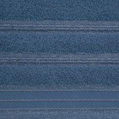 Ręcznik z bawełny z częścią ozdobną przetykaną błyszczącą nicią 70x140cm - 70 X 140 cm - niebieski 7