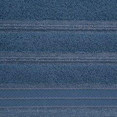 Ręcznik z bawełny z częścią ozdobną przetykaną błyszczącą nicią 70x140cm - 70x140 - granatowy 3