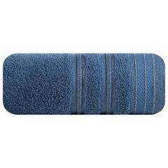 Ręcznik z bawełny z częścią ozdobną przetykaną błyszczącą nicią 70x140cm - 70 X 140 cm - niebieski 2