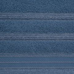 Ręcznik z bawełny z częścią ozdobną przetykaną błyszczącą nicią 70x140cm - 70 X 140 cm - niebieski 4