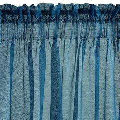 Firana niebieska zwiewna o strukturze deszczyku 140 x 300 cm na taśmie  - 140x300 - niebieski 2